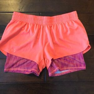Under Armour double layer running shorts